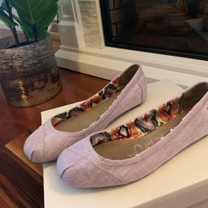 GUC Tom's gorgeous lilac flats/skimmers
